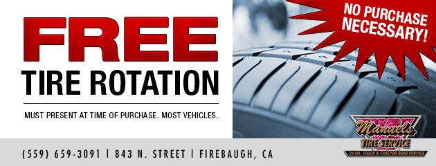 Free Tire Rotation - No Purchase Necessary!