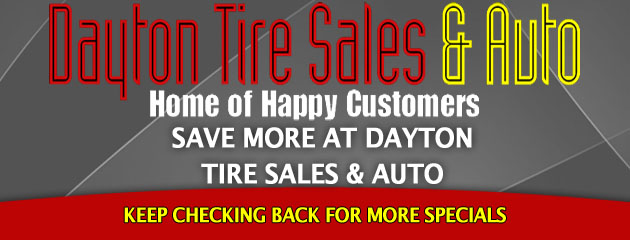 Dayton Tire Sales and Auto _Coupons Specials