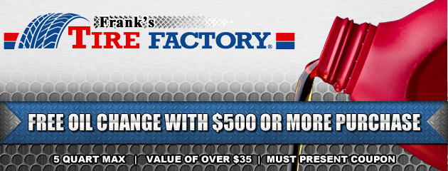 FREE Oil Change with $500 Purchase Coupon