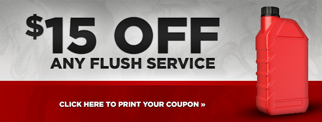 $15 OFF ANY FLUSH
