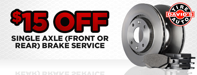 $15 off single axle (front or rear) brake service