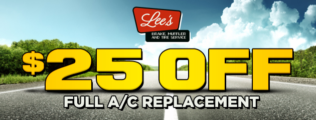 $25 off full A/C Replacement