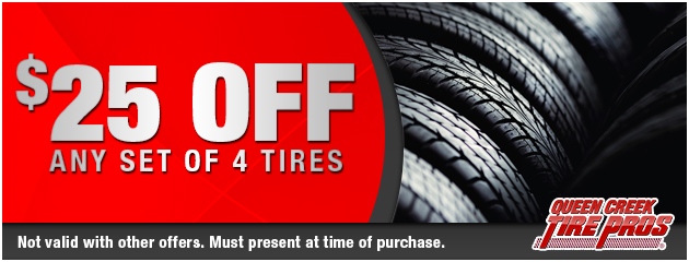 $25 Off any set of 4 tires