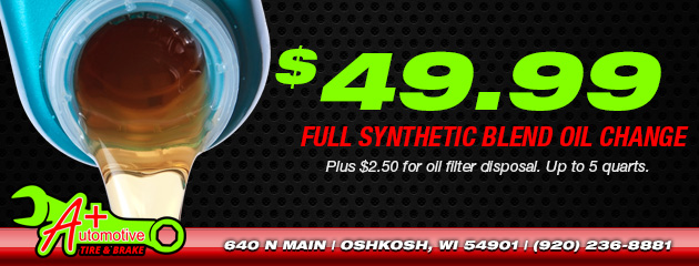 $49.99 Full Synthetic Blend Oil Change