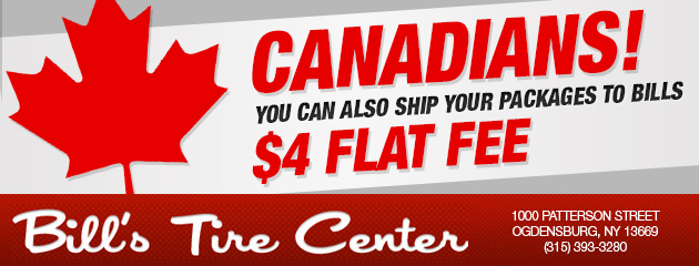 Canadians $4 Flat Fee!