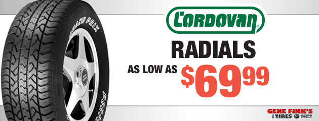 Cordovan Radials Prices