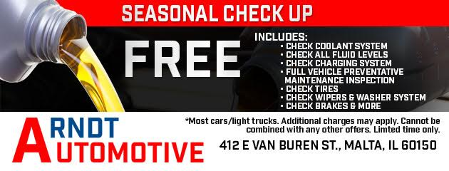 Free Seasonal Check Up