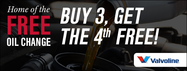 Home of the Free Oil Change, Buy 3 get the 4th free