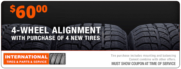 $60 4-Wheel Alignment with Tire Purchase