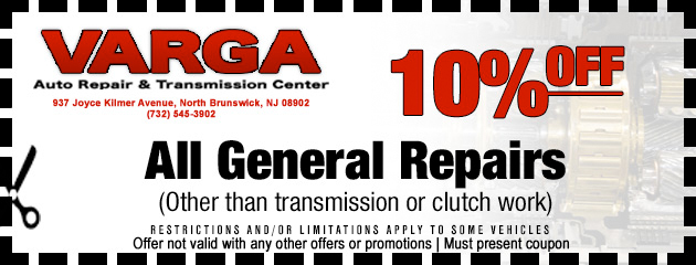 10 Percent off all general repairs