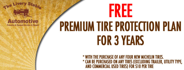 Free Premium Tire Protection Plan