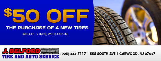 $50 off 4 new tires