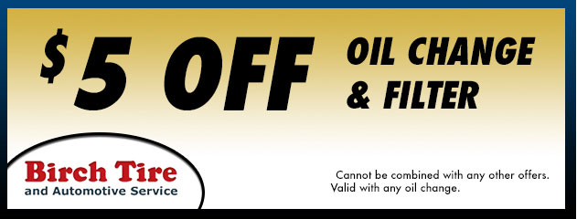 $5 Off Oil Change and Filter