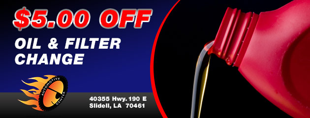 $5.00 off Oil & Filter Change