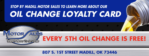 Oil Change Loyalty Card