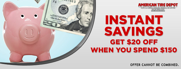 Instant Savings - $20 off $150