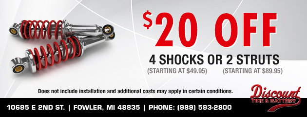 $20 off Shocks or Struts