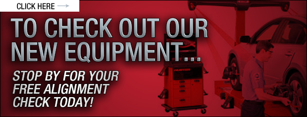 Click here to check out our new equipment...Stop by for your free alignment check today!