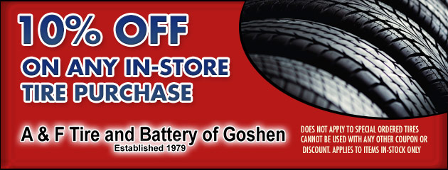 10% Off Any In Store Tire Purchase
