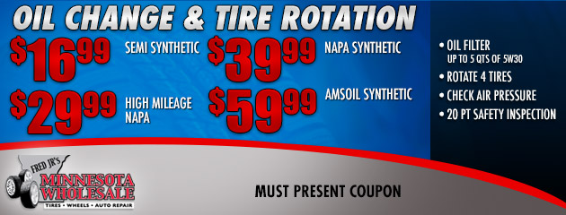Oil Change and Rotation Deals