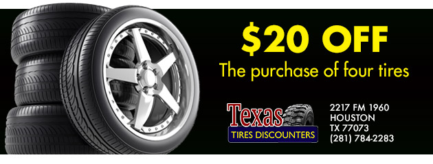 $20 off the purchase of four tires
