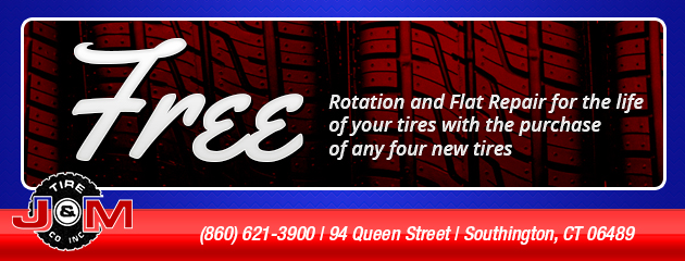 FREE Rotation and Flat Repair for the life of your tires