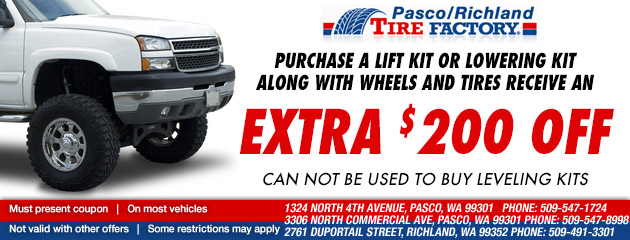 Buy A Lift Or Lowering Kit And Tires & Get $200 Off