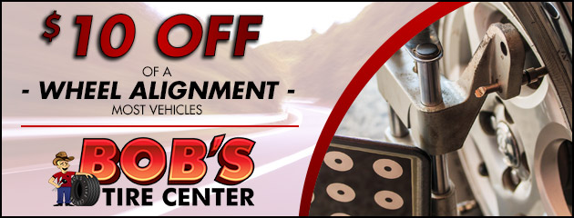 $10 off of a Wheel Alignment.