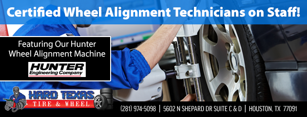 Certified Wheel Alignment Technicians on Staff!