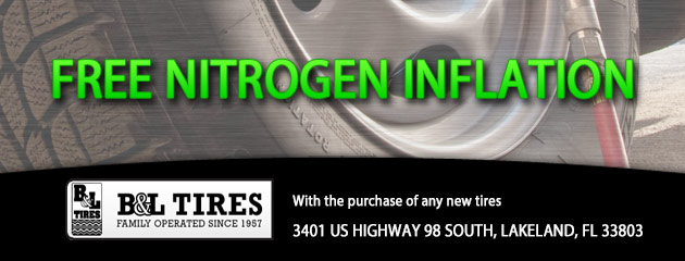 Free Nitrogen Inflation with the purchase of any new tires