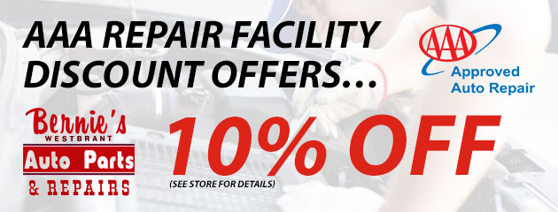 AAA Repair Facility discount offers… 10% off