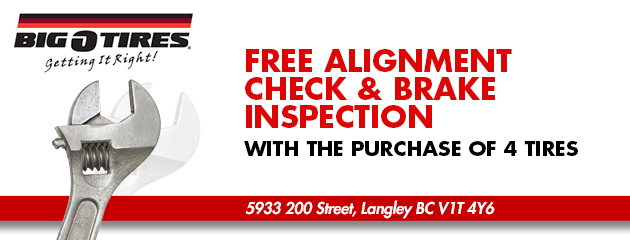 Free Alignment Check & Brake Inspection
