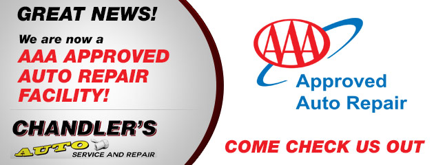We are now a AAA approved auto repair facility!