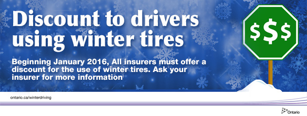 Ontario Winter Tire Insurance Discount