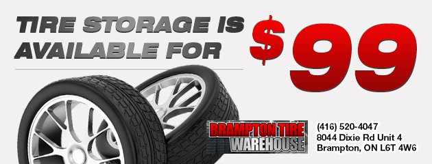 Tire storage is available for $99