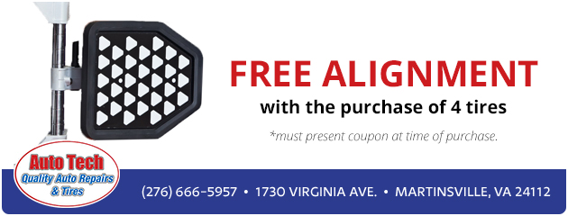 Free Alignment with the purchase of 4 tires.