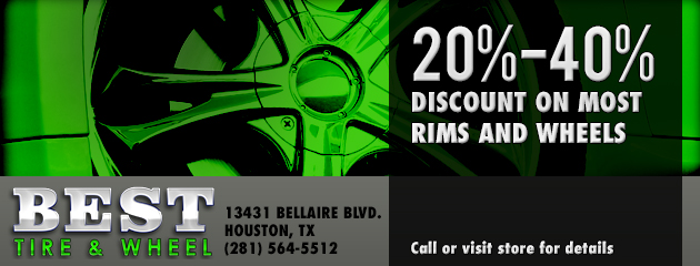 20%-40% discount on most rims and wheels