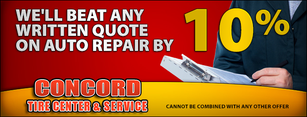 We'll beat any written quote by 10% on Auto Repair!