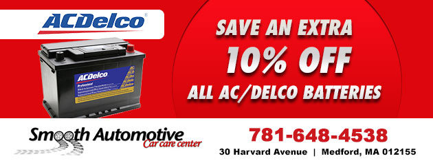Save an extra 10% Off all Ac/Delco Batteries