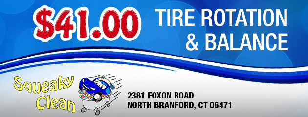 Tire Rotation and Balance: $41.00
