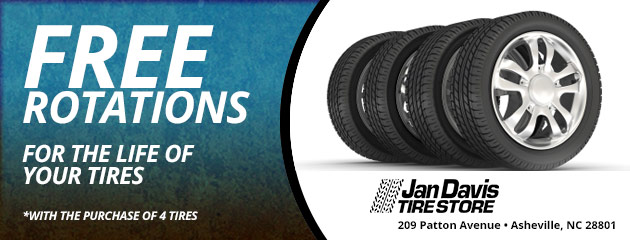 Free Rotations for the life of your tires