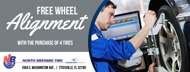 FREE WHEEL ALIGNMENT WITH THE PURCHASE OF 4 TIRES
