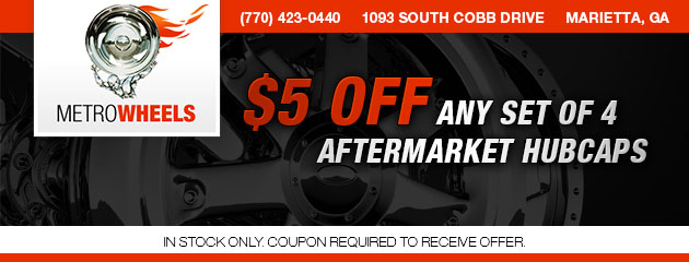 5 OFF ANY SET OF 4 AFTERMARKET HUBCAPS