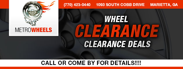 WHEEL CLEARANCE DEALS