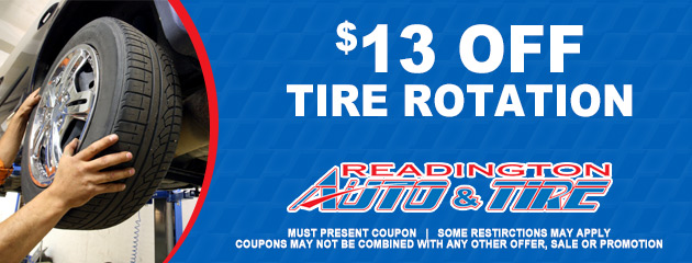 $13 OFF Tire Rotation