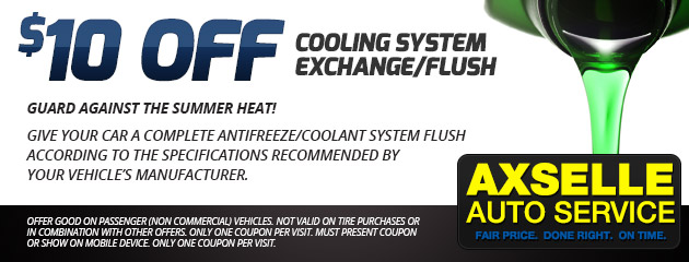 $10 Off Cooling system Exchange/Flush