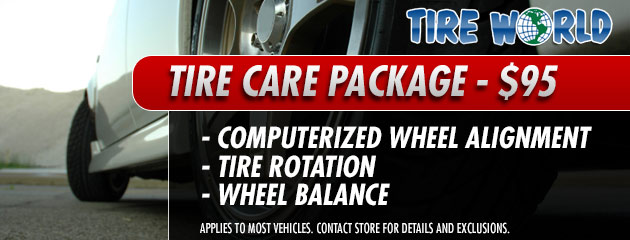 Tire Care Package - $95