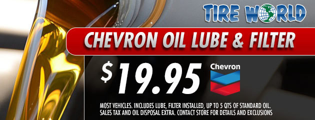 Chevron Oil Lube & Filter - 19.95