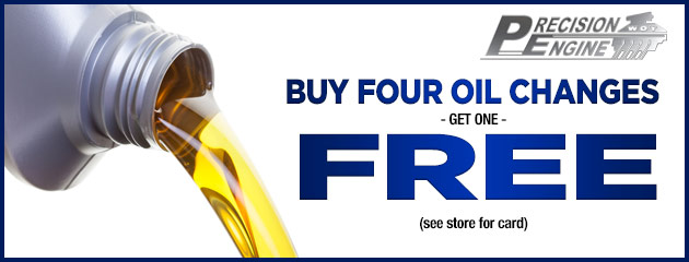 Buy four oil changes get one free!