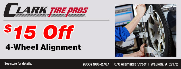 $15 off 4-Wheel Alignment